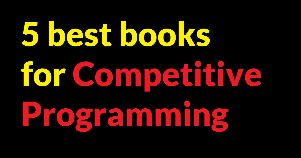 5 best books for competitive programming